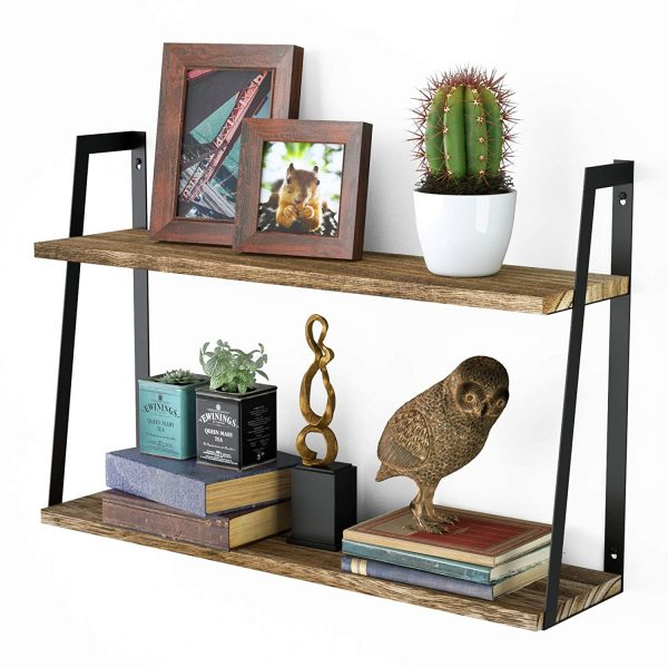 2-Tier Floating Wall Mount Shelves for Bedroom, Living Room, Kitchen and Office7