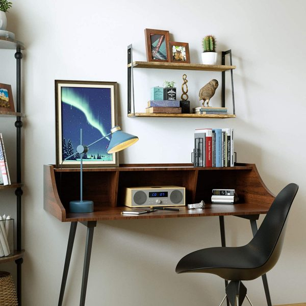 2-Tier Floating Wall Mount Shelves