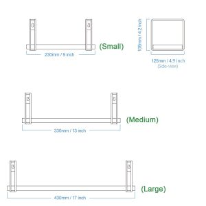 Hanging Wall Mounted Shelves set of 3 for Bedroom, Living Room, Bathroom, Kitchen, Office, and More