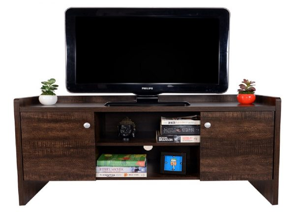 Home Entertainment and TV Stand Unit with two storage cabinets