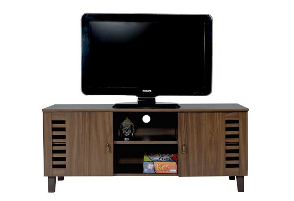 TV Stand, Media Storage and Home Entertainment Unit with two storage cabinets