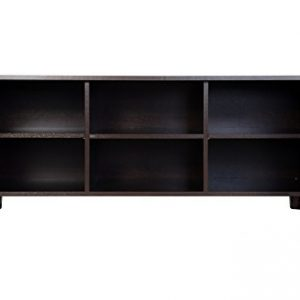 Dark Wenge TV Stand and Home Entertainment Unit with two storage cabinets