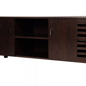 Wooden TV Stand, Media Storage and Home Entertainment Unit with two storage cabinets
