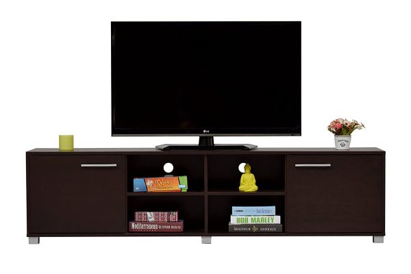 Wooden TV Stand and Media Storage Unit