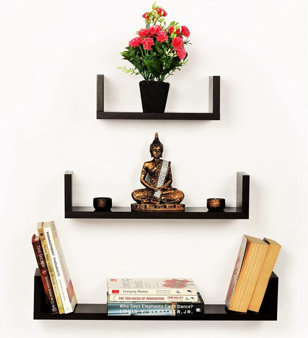 Wall Mounted Decor Display Rack - Set of 3 for Living Room, Bedroom and kitchen