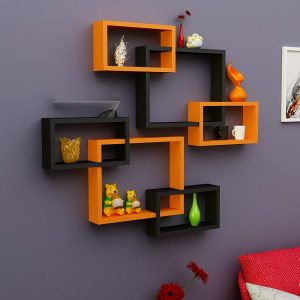 rectangular floating wall shelves set of 6