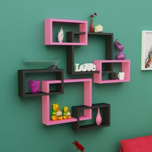Wall Decoration Intersecting Floating Shelves
