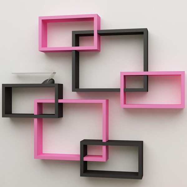 Wall Decoration Intersecting Floating Shelves Set of 6