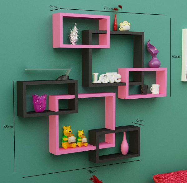 Wall Decoration Intersecting Shelves