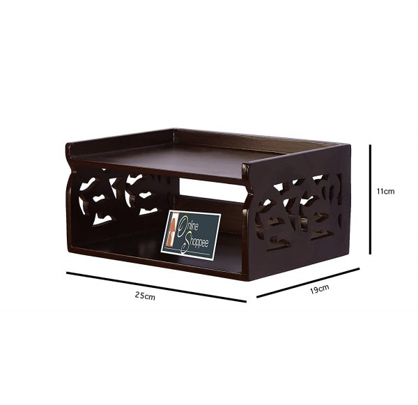 Stylish Wall Mounted Wooden Top Box Stand