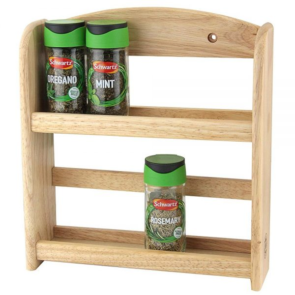 Latest Designs Wall Mounted 2 Tiered Spice Rack