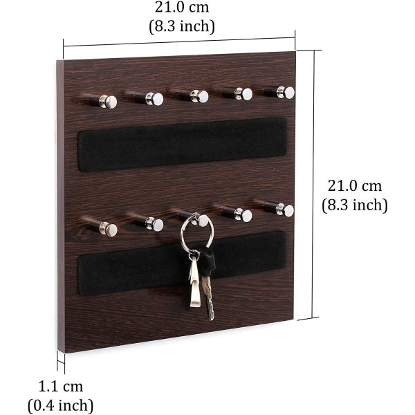Wall Mounted Home Décor Key Chain Holder - Key Hooks