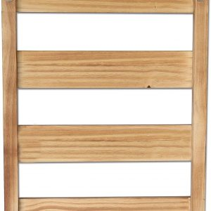 Wall Mounted Wood Cup Organizer with 8 Hooks4