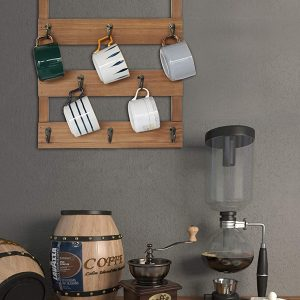 Wall Mounted Rustic Cup Organizer