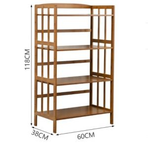 Wooden Beautiful Microwave Oven and Organizer Rack5