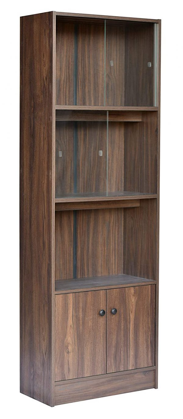 Stylish Wooden Book Shelf and Display Unit