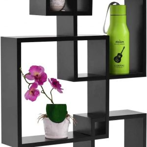 Wooden Wall Mounted Shelf Rack for Living Room Decor Set of 4