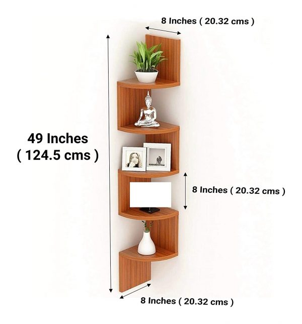 Zigzag Type Corner Wall Mount Shelf